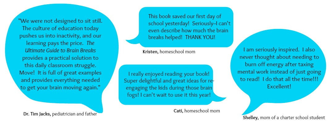 What people are saying about The Ultimate Guide to Brain Breaks
